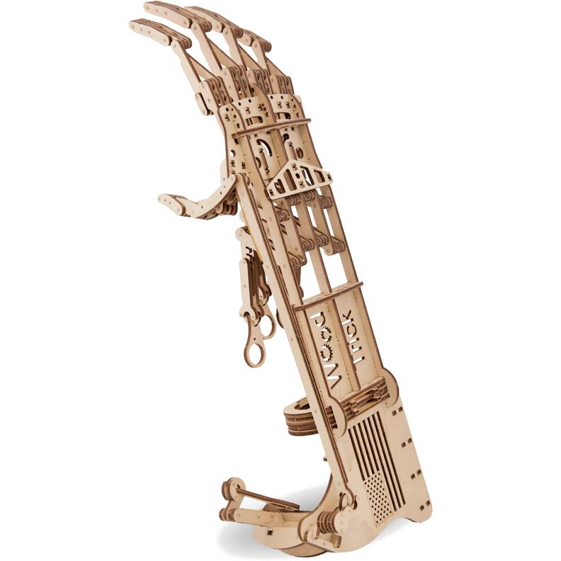 3D-конструктор из дерева Wood Trick Экзоскелет «Рука»3D пазлы и конструкторы<br>Сувениры Wood Trick — это механические 3D-модели, которые собираются без клея и понятны даже ребенку.<br><br>Цвет товара: Бежевый<br>Материал: Натуральное дерево (фанера)