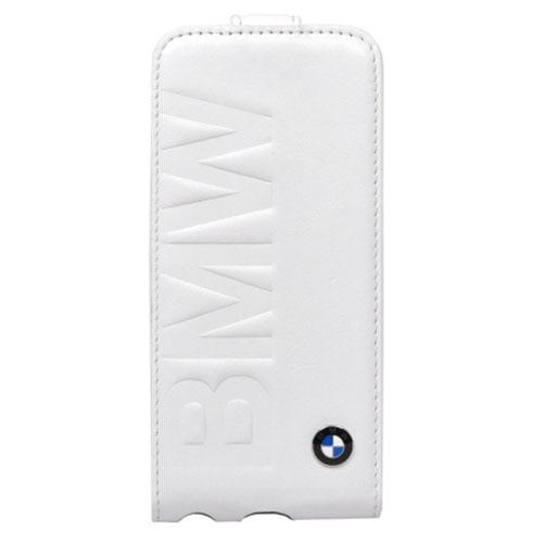 Чехол BMW Signature Flip для iPhone 5/5S/SE белыйЧехлы для iPhone 5/5S/SE<br>BMW Signature Flip точно повторяет все линии iPhone.<br><br>Цвет товара: Белый<br>Материал: Кожа, пластик
