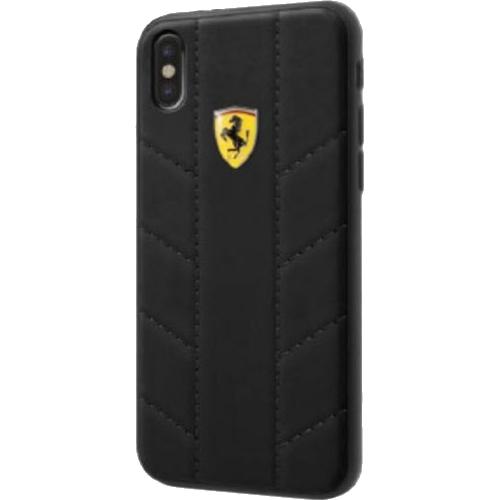 Чехол Ferrari On-track SF Racing tyres Hard PU для iPhone X чёрныйЧехлы для iPhone X<br>Чехол Ferrari On-track SF Racing tyres Hard выполнен из экокожи, которая славится своей привлекательностью, прочностью и износостойкостью.<br><br>Цвет товара: Чёрный<br>Материал: Экокожа, полиуретан, поликарбонат