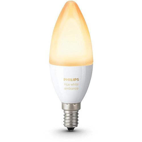 Умная лампа Philips Hue White Ambiance E14 (1 штука)Умные лампы<br>Светодиодная лампа Hue White Ambiance E14 от Philips для неповторимой атмосферы в вашем доме!<br><br>Цвет: Белый<br>Материал: Металл, керамика