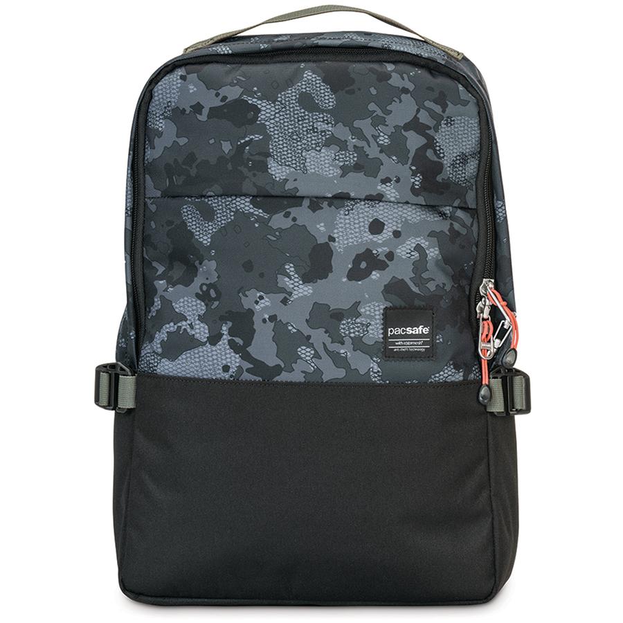 Рюкзак Pacsafe Slingsafe LX350 серый камуфляж (Grey Camo)Рюкзаки<br>Pacsafe Slingsafe LX350 представляет собой городской противоугонный рюкзак, в котором вы сможете уверенно и комфортно передвигаться по городу.<br><br>Цвет товара: Серый<br>Материал: Текстиль, нержавеющая сталь, пластик