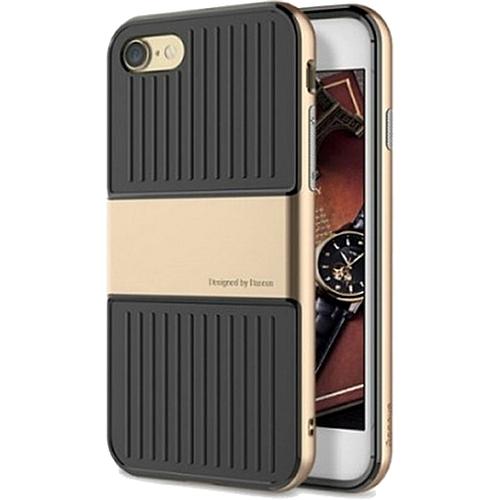 Чехол Baseus Travel Case для iPhone 7 золтистыйЧехлы для iPhone 7<br>Чехол Baseus Travel Case — это два слоя превосходной защиты и стиля для вашего iPhone.<br><br>Цвет товара: Золотой<br>Материал: Поликарбонат, термопластичный полиуретан