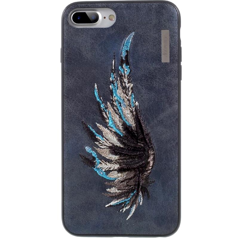Чехол Nimmy Fantasy Denim для iPhone 7 Plus / 8 Plus (Крыло) синийЧехлы для iPhone 7 Plus<br>Чехлы Nimmy Fantasy Denim (стиль 12) — это тандем стиля и качества.<br><br>Цвет: Синий<br>Материал: Пластик, силикон, текстиль