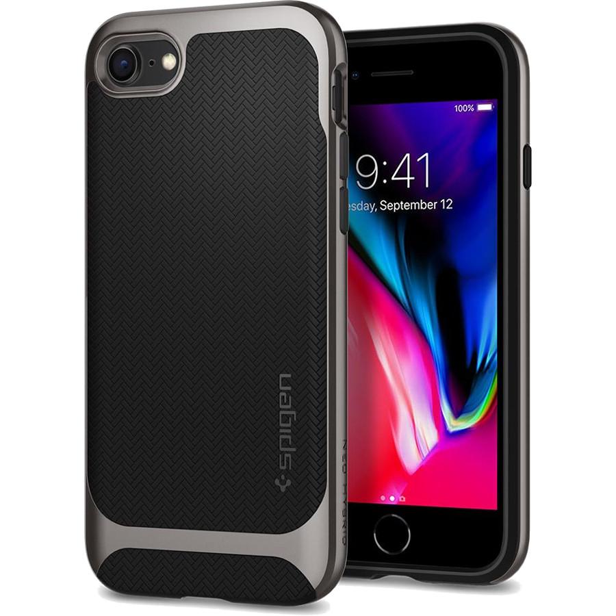 Чехол Spigen Neo Hybrid Herringbone для iPhone 8/7 стальной (054CS22197)Чехлы для iPhone 7<br>Spigen Neo Hybrid Herringbone — стильный и прочный чехол для мощного смартфона Apple iPhone 8.<br><br>Цвет: Серый<br>Материал: Поликарбонат, термопластичный полиуретан