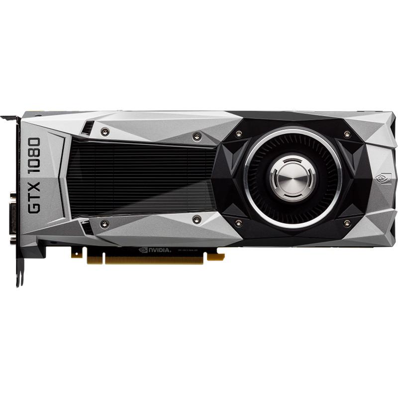 Видеокарта NVIDIA GeForce GTX 1080 Founders Edition, GDDR5X 8 Гб, 10000 МГцКомплектующие для ПК<br>Откройте для себя удивительную производительность, энергоэффективность и игровые впечатления вместе с мощной видеокартой NVIDIA GeForce GTX 1080 Fou...<br><br>Цвет товара: Серебристый<br>Материал: Металл, пластик<br>Модификация: 8 Гб