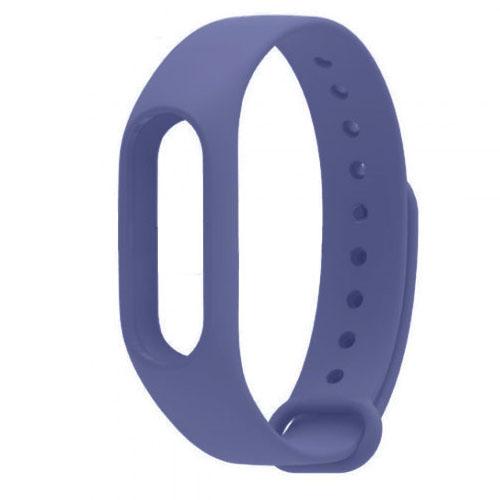 Ремешок для браслета Xiaomi Mi Band 2 фиолетовыйРемешки и кабели<br>Радужные ремешки позволят подобрать цвет браслета под настроение!<br><br>Цвет товара: Фиолетовый<br>Материал: Силикон