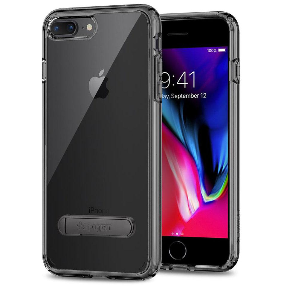 Чехол Spigen Ultra Hybrid S для iPhone 8 Plus, iPhone 7 Plus ультра-чёрный (055CS22242)Чехлы для iPhone 7 Plus<br>Spigen Ultra Hybrid S — один из самых тонких, надёжных и привлекательных чехлов!<br><br>Цвет товара: Чёрный оникс<br>Материал: Поликарбонат, полиуретан
