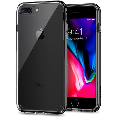 Чехол Spigen Neo Hybrid Crystal 2 для iPhone 8 Plus ультрачёрный (055CS22372)Чехлы для iPhone 8 Plus<br>Используя прочный чехол Spigen Neo Hybrid Crystal 2 вы будете уверены, что ваш iPhone 8 Plus под надёжной защитой превосходного чехла.<br><br>Цвет товара: Чёрный<br>Материал: Термопластичный полиуретан, поликарбонат