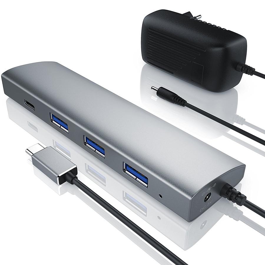 USB-хаб CSL Primewire USB 3.0 c питанием (CSL302562)Хабы - разветвители USB<br>Этот мощное, высокоскоростное устройство идеально дополнит ваш Mac.<br><br>Цвет: Серебристый<br>Материал: Металл, пластик