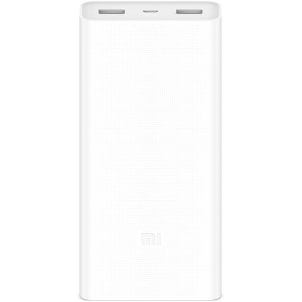 Внешний аккумулятор Xiaomi Mi Power Bank 2C (20000 mAh) белыйДополнительные и внешние аккумуляторы<br>Xiaomi Mi Power Bank 2C — незаменимый помощник для людей, живущих в современном ритме!<br><br>Цвет товара: Белый<br>Материал: Пластик