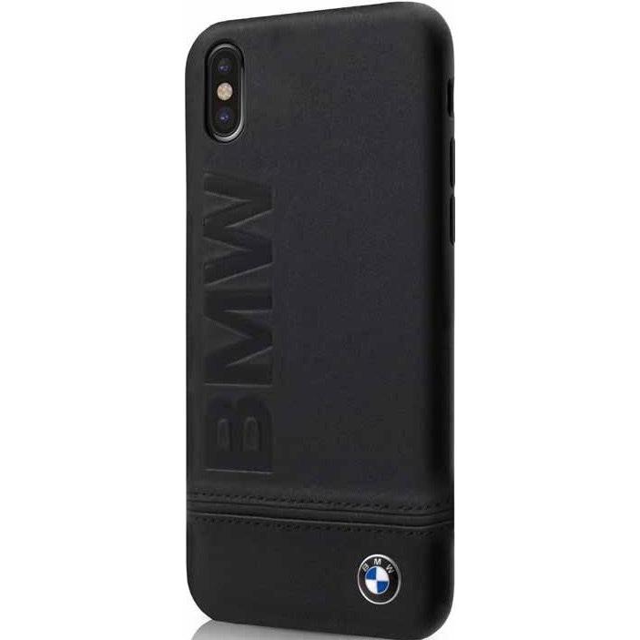 Чехол BMW Signature Logo imprint Hard для iPhone X чёрныйЧехлы для iPhone X<br><br><br>Цвет товара: Чёрный<br>Материал: Натуральная кожа, микрофибра, поликарбонат