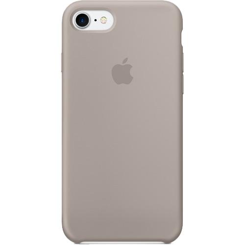 Силиконовый чехол Apple Case для iPhone 7 (Айфон 7) PebbleЧехлы для iPhone 7<br>Оригинальный чехол — лучший защитник мощного гаджета от неприятностей, поджидающих его во время использования, таких как царапины, потерт...<br><br>Цвет товара: Серый<br>Материал: Силикон
