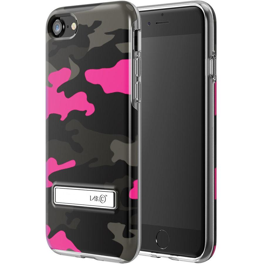 Чехол LAB.C Metal Stand Case для iPhone 7 розовыйЧехлы для iPhone 7<br>С LAB.C Metal Stand Case ни царапины, ни трещины, ни сколы будут не страшны вашему iPhone 7!<br><br>Цвет товара: Розовый<br>Материал: Пластик, металл<br>Модификация: iPhone 4.7
