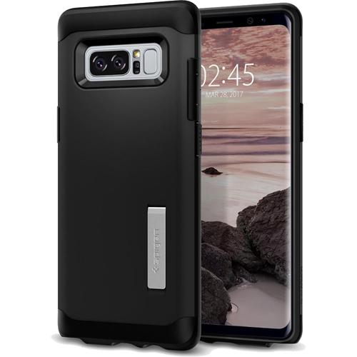 Чехол Spigen Slim Armor для Galaxy Note 8 чёрный (587CS21835)Чехлы для Samsung Galaxy Note<br>Spigen Slim Armor — это два прочнейших слоя защиты от повреждений для вашего смартфона.<br><br>Цвет товара: Чёрный<br>Материал: Термопластичный полиуретан, поликарбонат