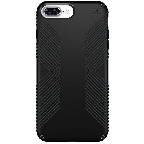 Чехол Speck Presidio Grip для iPhone 7 Plus (Айфон 7 Плюс) чёрныйЧехлы для iPhone 7 Plus<br>Чехол Speck Grip Presidio для iPhone 7 Plus - черный/черный<br><br>Цвет товара: Чёрный<br>Материал: Пластик, силикон