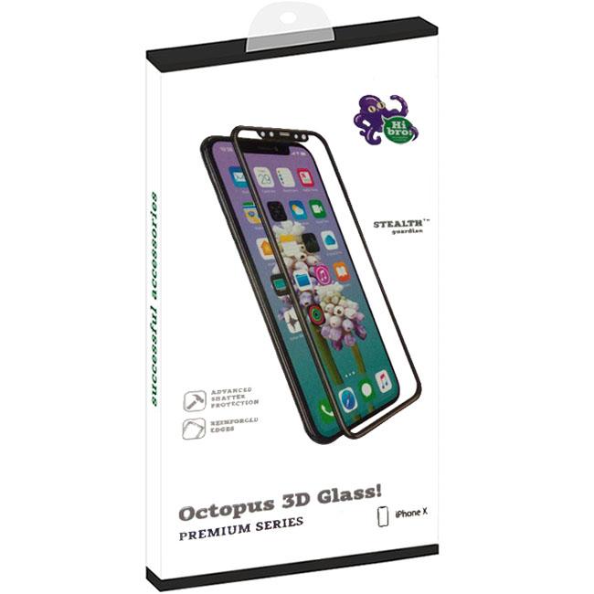 Защитное стекло HiBro! Octopus Glass 3D для iPhone X чёрноеСтекла/Пленки на смартфоны<br>Защитное стекло HiBro! Octopus Glass! для iPhone Х - черное<br><br>Цвет: Чёрный<br>Материал: Стекло