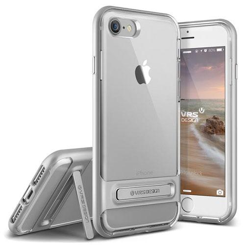 Чехол Verus Crystal Bumper для iPhone 7 (Айфон 7) серебристый (VRIP7-CRBSS)Чехлы для iPhone 7/7 Plus<br>Чехол Verus для iPhone 7 Crystal Bumper, серебристый (904598)<br><br>Цвет товара: Серебристый<br>Материал: Поликарбонат, полиуретан