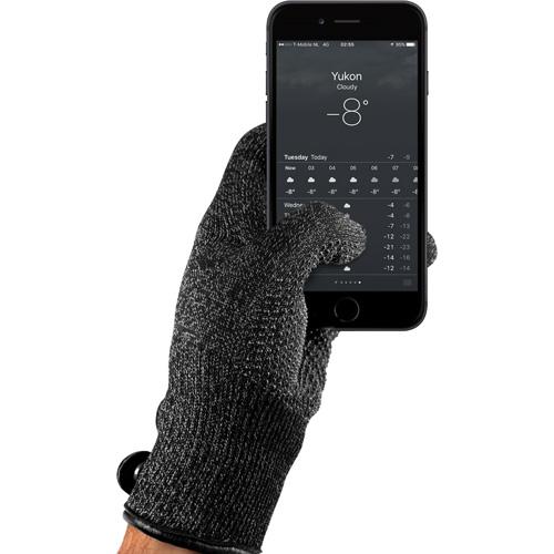 Купить со скидкой Перчатки Mujjo Double Layered Touchscreen Gloves для iPhone/iPod/iPad/etc чёрные (Размер M)