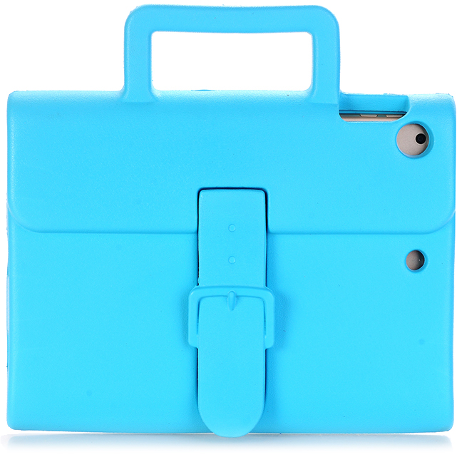 Чехол DoDo Briefcase Kids Shockproof для iPad Air / iPad Air 2 / iPad (2017) голубойЧехлы для iPad Air<br><br><br>Цвет товара: Голубой<br>Материал: Силикон