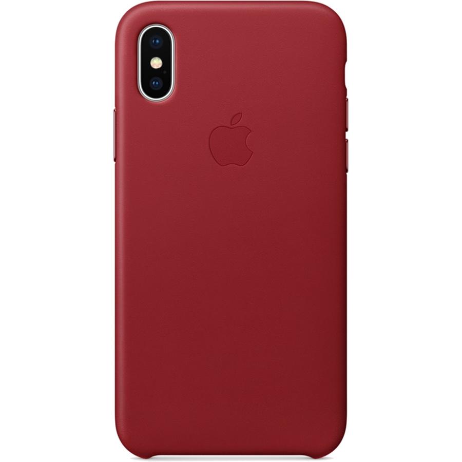 Кожаный чехол Apple Leather Case для iPhone X красный (PRODUCT)REDЧехлы для iPhone X<br>Кожаный чехол от Apple — отличное дополнение к вашему iPhone X.<br><br>Цвет: Красный<br>Материал: Натуральная кожа
