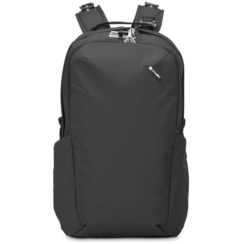Рюкзак PacSafe Vibe 25 чёрныйРюкзаки<br>Вместительный и комфортный рюкзак Pacsafe Vibe 25 Black обеспечит максимальную защиту для ваших вещей!<br><br>Цвет товара: Чёрный<br>Материал: Текстиль, нержавеющая сталь, пластик