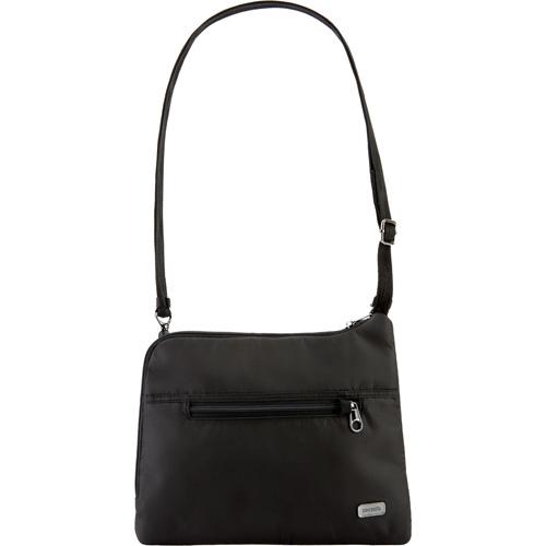 Сумка PacSafe Daysafe Anti-theft Slim Crossbody Bag чёрнаяСумки и аксессуары для путешествий<br>Тонкая и спортивная кросс-боди сумка PacSafe, объемом 4,5 литра позволяет вам держать самые необходимые вещи организованно и всегда под рукой.<br><br>Цвет товара: Чёрный<br>Материал: 200D полиэстер Dobby, полиуретан (600 мм); подкладка: 75D полиэстер Herringbone Dobby, полиуретан (1000 мм), нержавеющая сталь