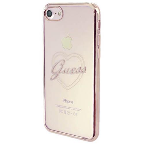 Чехол Guess Signature Heart Hard для iPhone 7 розовое золотоЧехлы для iPhone 7/7 Plus<br>Guess Signature Heart Hard — естественное продолжение вашего гардероба и отличное дополнение его стиля.<br><br>Цвет товара: Розовое золото