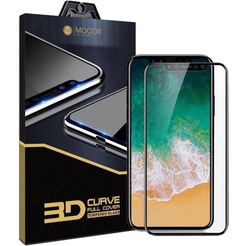 Защитное стекло MOCOLL Black Diamond 3D Full Cover для iPhone X чёрная рамкаСтекла/Пленки на смартфоны<br>MOCOLL 3D Full Cover обеспечивает отличную защиту дисплея изо дня в день, не позволяя царапинам появляться на экране вашего iPhone!<br><br>Цвет: Чёрный<br>Материал: Стекло; олеофобное покрытие, антибликовое покрытие, покрытие против отпечатков пальцев
