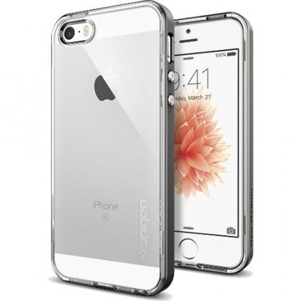 Чехол Spigen Neo Hybrid Crystal для iPhone 5/5S/SE чёрный (SGP-041CS20181)Чехлы для iPhone 5s/SE<br>Чехол Spigen Neo Hybrid Crystal для iPhone SE тёмный металлик (SGP-041CS20181)<br><br>Цвет товара: Чёрный<br>Материал: Пластик, резина