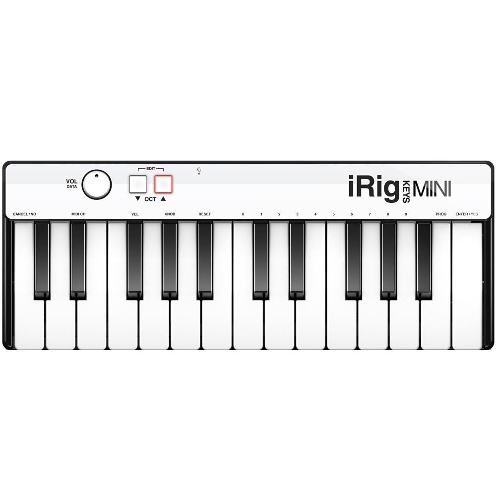Портативная миди-клавиатура IK Multimedia iRig Keys Mini (25 клавиш) для iOS, Android, Mac, PCОборудование для звукозаписи<br>С iRig Keys Mini музыкальное вдохновение не будет упущено!<br><br>Цвет товара: Белый<br>Материал: Пластик, металл