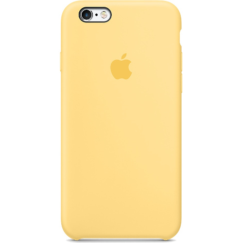 Силиконовый чехол Apple Case для iPhone 6/6s Plus жёлтыйЧехлы для iPhone 6/6s Plus<br>Apple Case изготовлен так, чтобы надежно защитить камеру и корпус iPhone.<br><br>Цвет товара: Жёлтый<br>Материал: Силикон