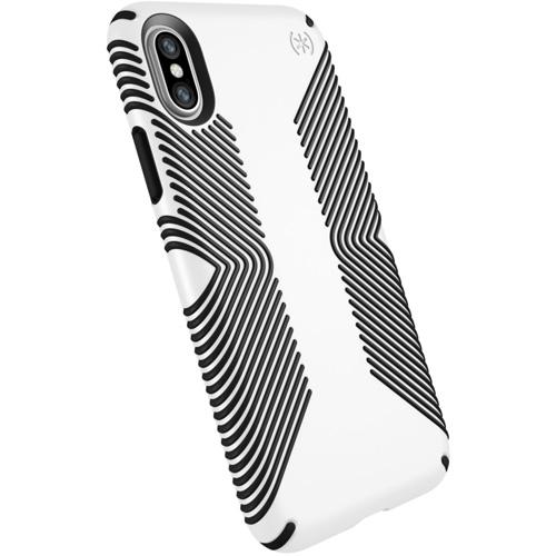 Чехол Speck Presidio Grip для iPhone X белый/чёрныйЧехлы для iPhone X<br>Чехол Speck Presidio GRIP для iPhone X — это великолепная двухслойная защита и стиль.<br><br>Цвет товара: Белый<br>Материал: Поликарбонат, резина