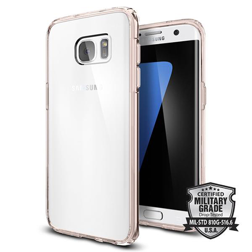 Чехол Spigen Ultra Hybrid для Galaxy S7 Edge кристально-розовый (556CS20035) от iCases