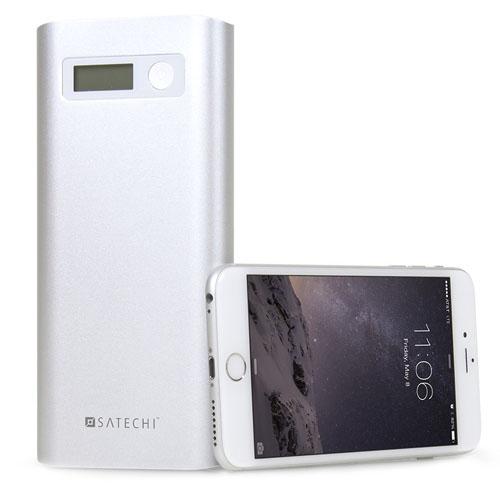 Внешний аккумулятор Satechi SX20 Aluminum Portable Energy Station (20000mAh) серебристыйДополнительные аккумуляторы<br>Дополнительный аккумулятор Satechi Aluminum Portable SX20 20000 mAh<br><br>Цвет товара: Серебристый<br>Материал: Металл