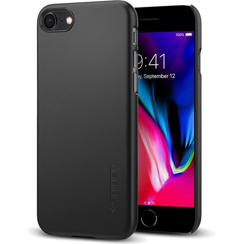 Чехол Spigen Thin Fit для iPhone 8 (Айфон 8) матовый чёрный (SGP-054CS22208)Чехлы для iPhone 8<br>Spigen Thin Fit — это чехол с лёгким и свежим дизайном, который создан специально для iPhone 8!<br><br>Цвет товара: Чёрный<br>Материал: Поликарбонат