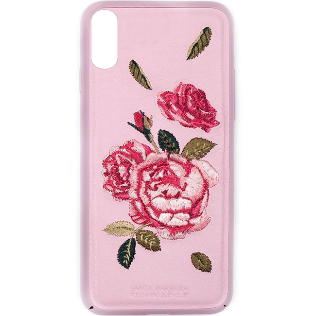 Чехол Santa Barbara Flowers Series для iPhone X розовыйЧехлы для iPhone X<br>Santa Barbara Flowers Series - настоящий чехол премиум-класса!<br><br>Цвет: Розовый<br>Материал: Пластик, силикон, текстиль