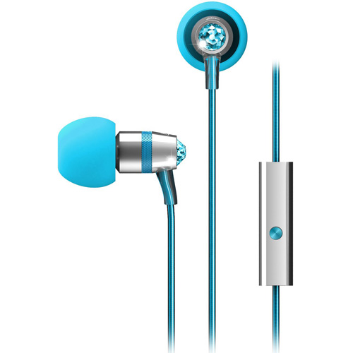Наушники MEE Audio с кристаллами Swarovski (EP-M11J-TQ-MEE)Внутриканальные наушники<br>Наушники MEE Audio с кристаллами Swarowski (EP-M11J-TQ-MEE)<br><br>Цвет товара: Голубой<br>Материал: Пластик, силикон, кристаллы Swarovski
