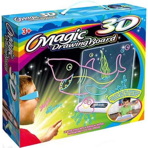 3D-доска для рисования Magic Drawing Board 3D (ОБИТАТЕЛИ ОКЕАНА)Планшеты для рисования<br>Magic Drawing Board — это не просто доска для рисования, а настоящий творческий инструмент для полета фантазии и воображения малыша, который увлече...<br><br>Цвет товара: Разноцветный<br>Материал: Металл, пластик, бумага, картон
