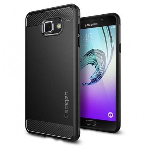 Чехол Spigen Rugged Armor для Samsung Galaxy A7 чёрный (SGP11840)Чехлы для Android<br>Крепкий защитный чехол для Samsung Galaxy A7 Spigen Rugged Armor – надежный защитный чехол, способный выручить в любой ситуации.<br><br>Цвет товара: Чёрный<br>Материал: Термопластичный полиуретан