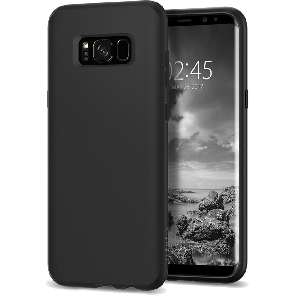 Чехол Spigen Liquid Crystal для Samsung Galaxy S8 матовый черный (565CS21613)Чехлы для Samsung Galaxy S8/S8 Plus<br>Spigen Liquid Crystal — чехол, который отлично смотрится на Samsung Galaxy S8, так как не скрывает и подчёркивает его дизайн!<br><br>Цвет товара: Чёрный<br>Материал: Термопластичный полиуретан
