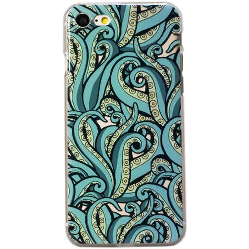 Чехол iPapai «Surf» (Осьминог) для iPhone 7Чехлы для iPhone 7<br>Стильный и надёжный чехол iPapai с уникальным дизайнерским принтом.<br><br>Цвет товара: Разноцветный<br>Материал: Пластик