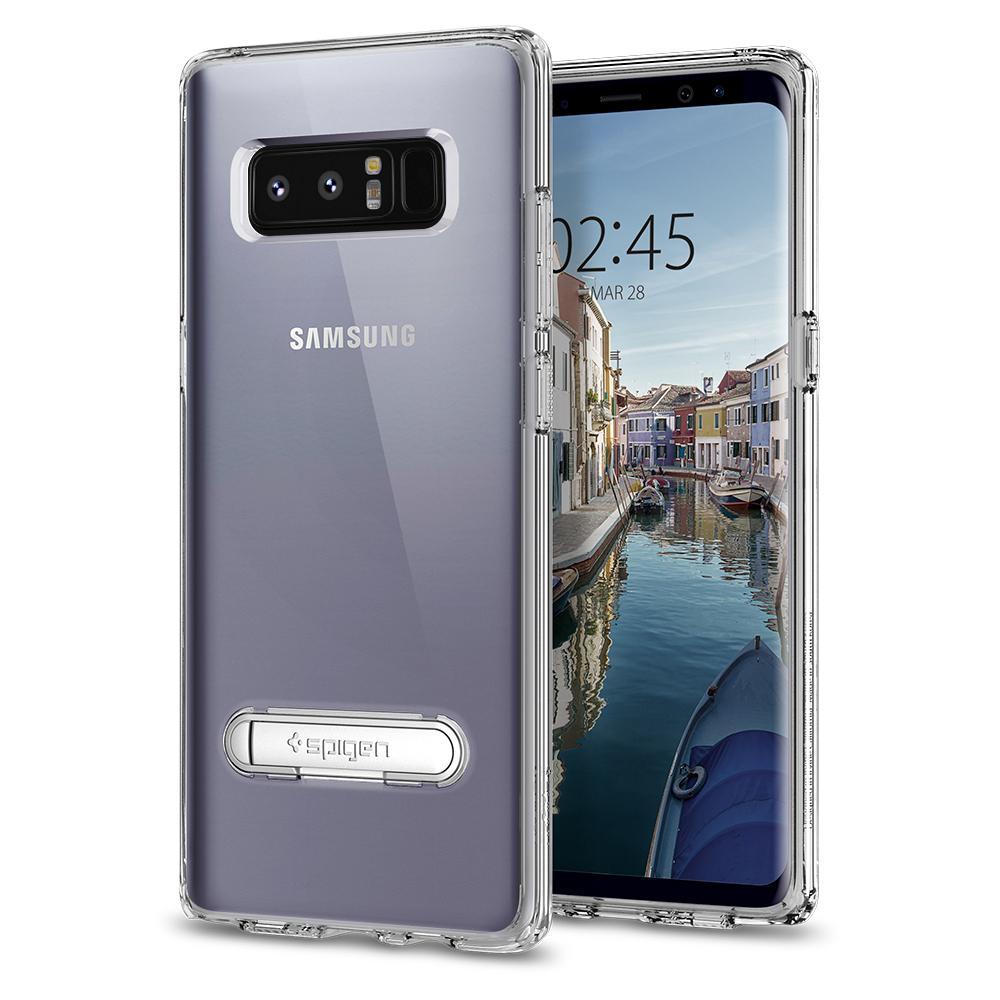 Чехол Spigen Ultra Hybrid S для Samsung Galaxy Note 8 кристально-прозрачный (587CS22067)Чехлы для Samsung Galaxy Note<br>Spigen Ultra Hybrid S — один из самых тонких, надёжных и привлекательных чехлов для вашего любимого смартфона!<br><br>Цвет товара: Прозрачный<br>Материал: Поликарбонат, термопластичный полиуретан