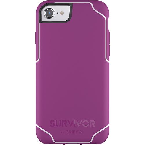 Чехол Griffin Survivor Journey для iPhone 7 (Айфон 7) фиолетовый/белыйЧехлы для iPhone 7<br>Чехол Griffin Survivor Journey для iPhone 7/6/6s - фиолетовый/белый<br><br>Цвет товара: Фиолетовый<br>Материал: Пластик