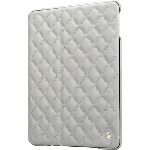 Чехол Jison Matelasse Case для iPad Air белыйЧехлы для iPad Air<br>Чехол Jison Matelasse Case - это чистые линии и высокая функциональность, простота и технологичность, элегантность и универсальный дизайн.<br><br>Цвет товара: Белый<br>Материал: Натуральная кожа, поликарбонат