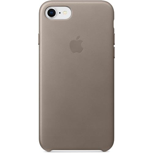Кожаный чехол Apple Leather  Case для iPhone 7/8 платиново-серый (Taupe)Чехлы для iPhone 7<br>Ни один чехол в мире не сочетается с мощным Айфон лучше, чем оригинальный Apple Case.<br><br>Цвет товара: Серый<br>Материал: Натуральная кожа