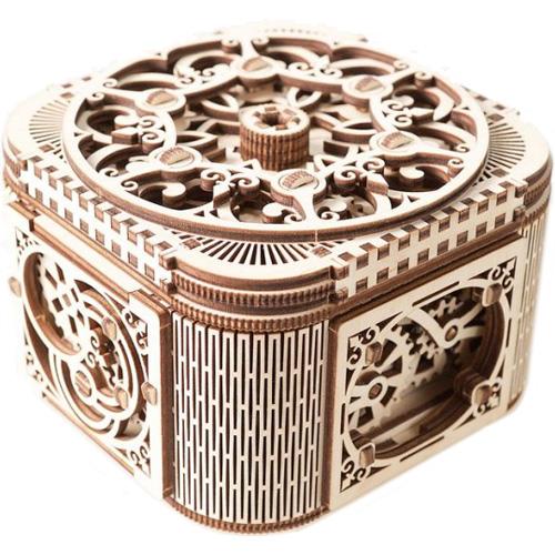 3D-пазл Ugears Шкатулка с секретом3D пазлы и конструкторы<br>3D-пазлы от компании UGears — это модели удивительной красоты и функциональности.<br><br>Цвет товара: Бежевый<br>Материал: фанера (ФК)