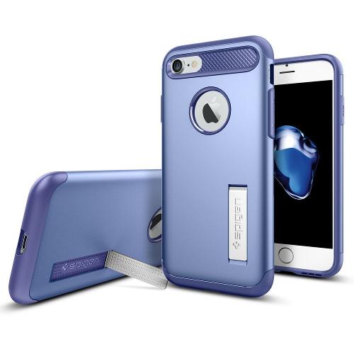 Чехол Spigen Slim Armor для iPhone 7, iPhone 8 фиолетовый (SGP-042CS20304)Чехлы для iPhone 7<br>Spigen Slim Armor — это тончайшая двухслойная защита для вашего Айфон.<br><br>Цвет товара: Фиолетовый<br>Материал: Поликарбонат, полиуретан