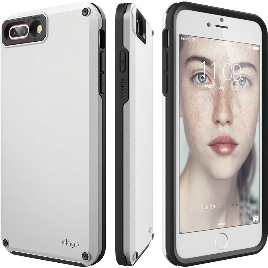 Чехол Elago Armor Hard TPU/PC для iPhone 7 Plus / 8 Plus белыйЧехлы для iPhone 7 Plus<br>Благодаря Elago Armor Hard TPU/PC под надёжной защитой будет не только ваш смартфон, но и ваши ценности!<br><br>Цвет: Белый<br>Материал: Поликарбонат, полиуретан