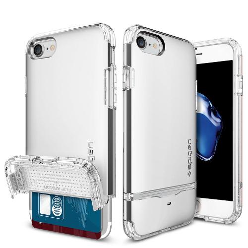 Чехол Spigen Flip Armor для iPhone 7, iPhone 8 серебристый (SGP-042CS20820)Чехлы для iPhone 7<br>Чехол Spigen Flip Armor для iPhone 7 (Айфон 7) серебристый (SGP-042CS20820)<br><br>Цвет товара: Серебристый<br>Материал: Поликарбонат, полиуретан