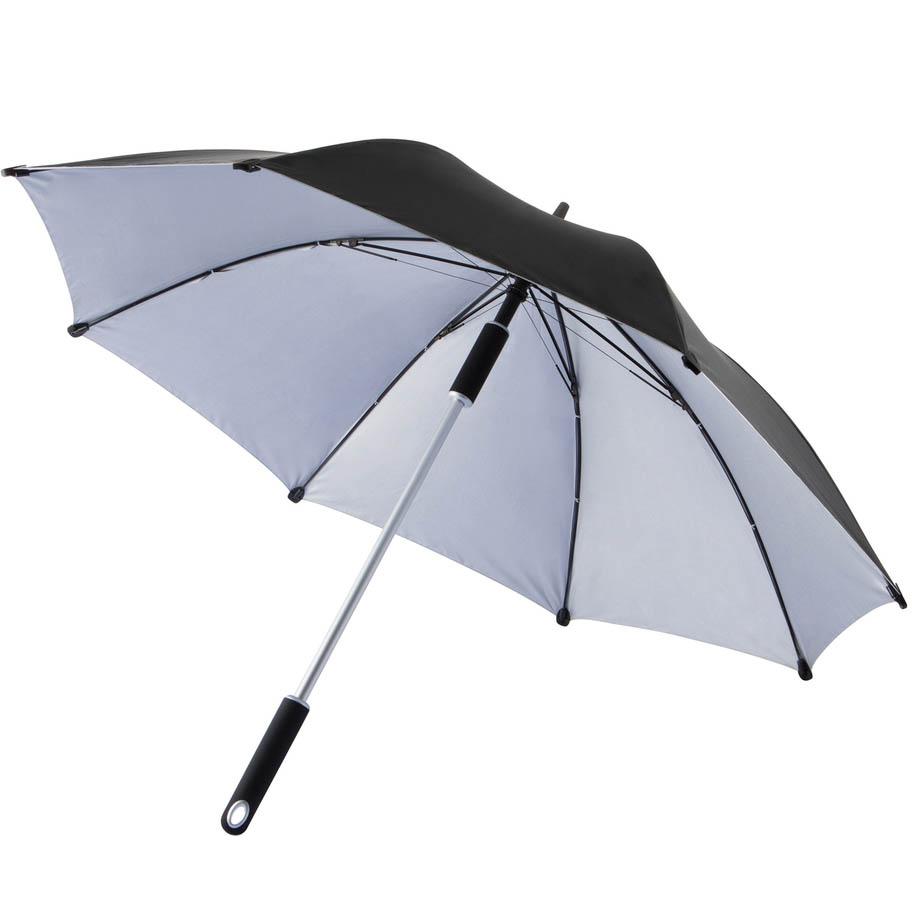 Зонт-трость XD Design Hurricane (P850.101) чёрныйТуризм и отдых на природе<br>XD Design Hurricane — зонт, способный выдержать самые экстремальные нагрузки!<br><br>Цвет: Чёрный<br>Материал: Полиэстер 190T, пластик, алюминий, стекловолокно